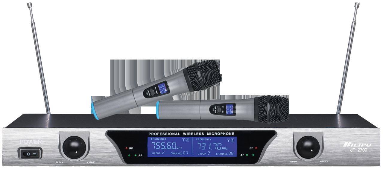 JF-2700  无线手持话筒一拖二